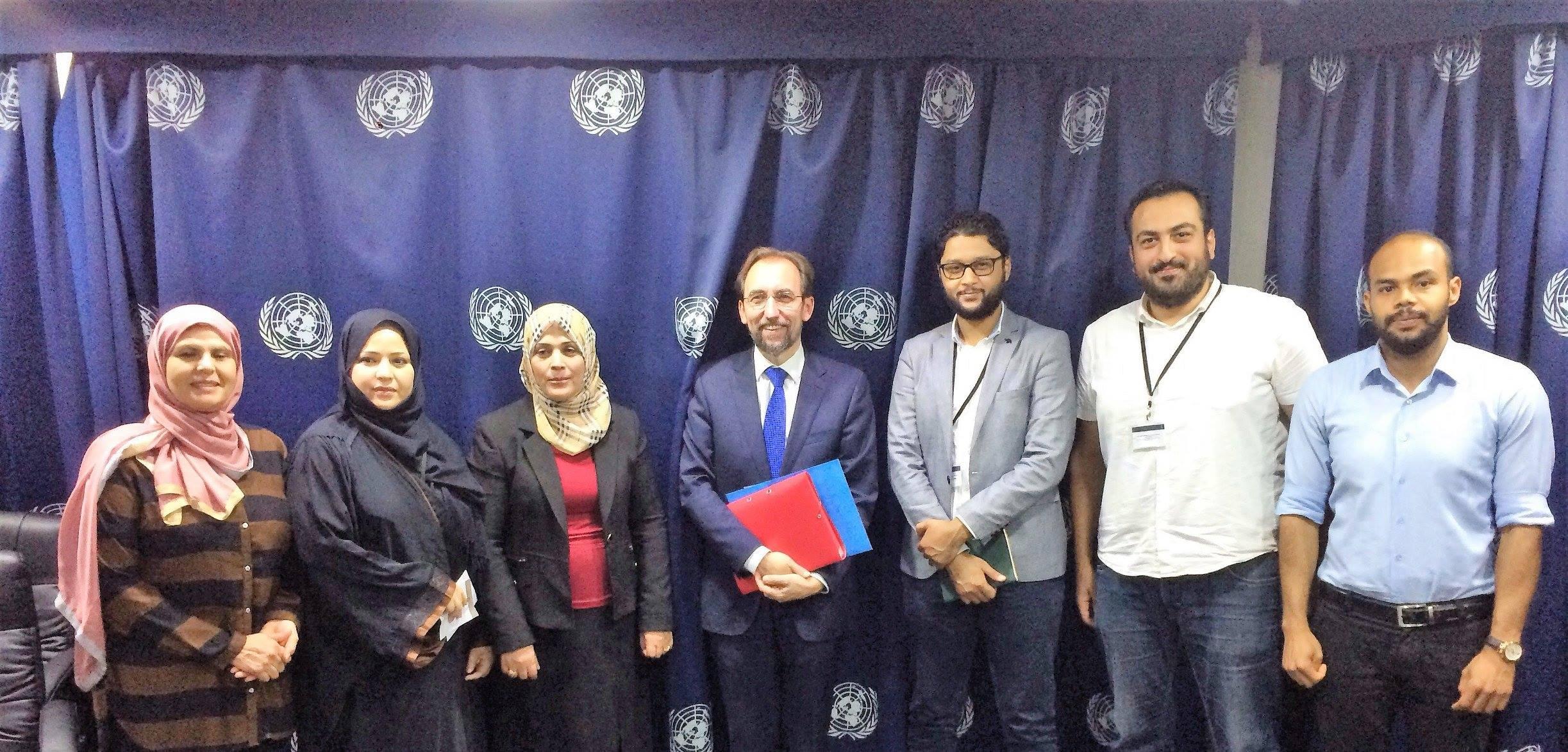 منظمات ليبية حقوقية يجتمعون بمبعوث الأمم المتحدة والمفوض السامي لحقوق الأنسان